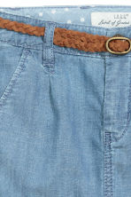 Skirt with a braided belt - Light denim blue - Kids | H&M CN 4