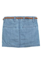 Skirt with a braided belt - Light denim blue - Kids | H&M CN 3