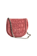 Suede shoulder bag - Vintage pink -  | H&M GB 1
