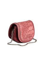 Suede shoulder bag - Vintage pink -  | H&M GB 2