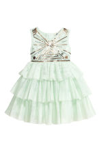 Sequined tulle dress - Mint green - Kids | H&M CN 2