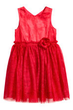Glittery tulle dress - Red - Kids | H&M CN 2