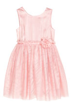 Glittery tulle dress - Light pink - Kids | H&M CN 2