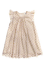 Tulle dress - Light mole/Spotted - Kids | H&M CN 2