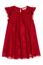 Tulle dress - Red/Glitter - Kids | H&M CN 2