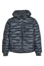 Down jacket with a hood - Dark blue - Men | H&M CN 2