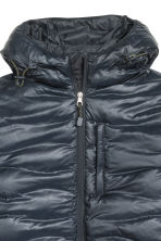 Down jacket with a hood - Dark blue - Men | H&M CN 3