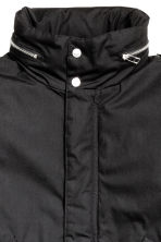 Coat with a concealed hood - Black - Men | H&M CN 4
