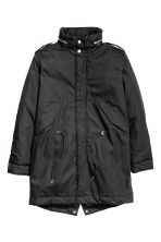Coat with a concealed hood - Black - Men | H&M CN 2