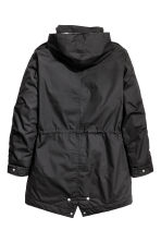 Coat with a concealed hood - Black - Men | H&M CN 3