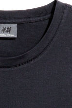 Premium cotton T-shirt - Dark blue - Men | H&M 3