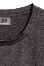 Premium cotton T-shirt - Dark grey marl - Men | H&M 3