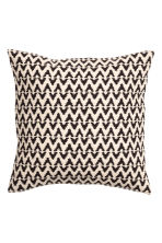 Jacquard-weave cushion cover - Anthracite grey/Natural white - Home All | H&M CN 2