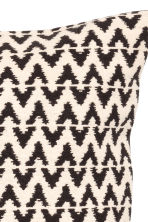 Jacquard-weave cushion cover - Anthracite grey/Natural white - Home All | H&M CN 4