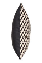 Jacquard-weave cushion cover - Anthracite grey/Natural white - Home All | H&M CN 3