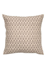 Jacquard-weave cushion cover - Mole/Natural white - Home All | H&M CN 1