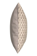 Jacquard-weave cushion cover - Mole/Natural white - Home All | H&M CN 2