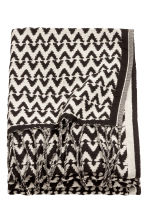 Jacquard-weave blanket - Anthracite grey/Natural white - Home All | H&M GB 2