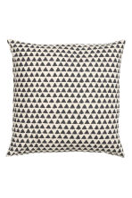 Patterned cushion cover - Natural white/Anthracite grey - Home All | H&M GB 2