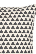 Patterned cushion cover - Natural white/Anthracite grey - Home All | H&M GB 3