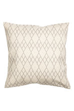 Patterned cushion cover - Natural white/Beige - Home All | H&M CN 1