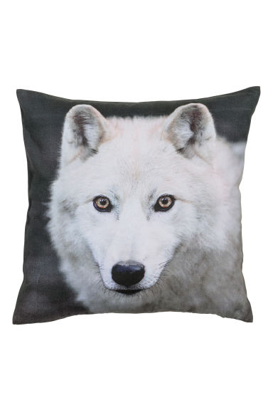 Printed cushion cover - Dark Grey/Wolf - Home All | H&M CN 1