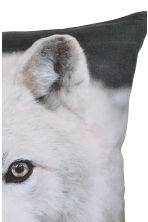 Printed cushion cover - Dark Grey/Wolf - Home All | H&M CN 3