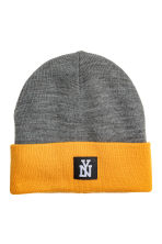 Knitted hat - Dark grey marl - Kids | H&M CN 1