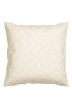 Patterned cushion cover - Light beige - Home All | H&M CN 1