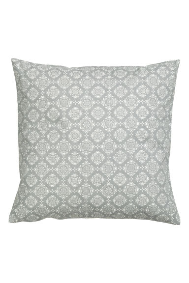 Patterned cushion cover - Light grey -  | H&M GB