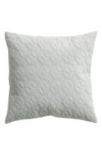 Quilted velvet cushion cover - Light grey - Home All | H&M CN 2