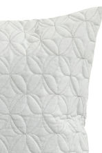 Quilted velvet cushion cover - Light grey - Home All | H&M CN 3