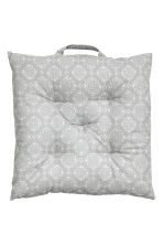 Galette de chaise à motif - Gris clair - Home All | H&M FR 1