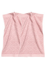 Lot de 2 essuie-mains - Rose clair - Home All | H&M FR 2