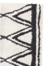 Jacquard-weave bath mat - Natural white/Patterned - Home All | H&M CN 3
