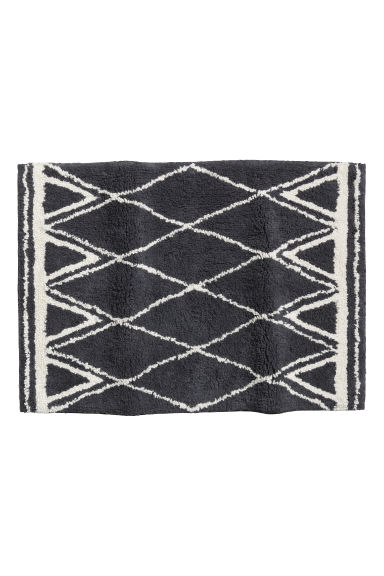 Jacquard-weave bath mat - Dark grey/Patterned -  | H&M IE