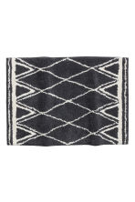 Jacquard-weave bath mat - Dark grey/Patterned - Home All | H&M GB 1