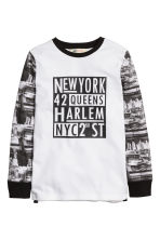 Printed top - White/New York - Kids | H&M CN 2