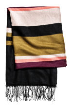 Jacquard-weave shawl - Block striped - Ladies | H&M CN 2
