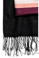 Jacquard-weave shawl - Block striped - Ladies | H&M CN 3