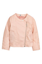 Biker jacket - Powder pink - Kids | H&M CN 2