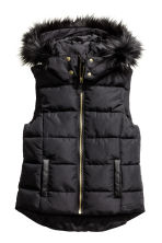Padded bodywarmer with a hood - Black - Kids | H&M CN 2