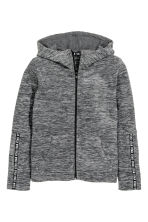 Fleece jacket with a hood - Dark grey marl - Kids | H&M CN 2