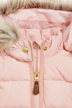 Padded gilet with a hood - Light pink - Kids | H&M CN 3