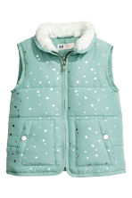 Padded gilet - Mint green/Heart - Kids | H&M CN 2
