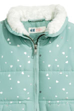 Padded gilet - Mint green/Heart - Kids | H&M CN 3