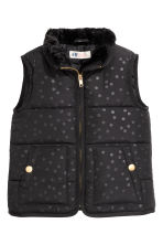 Padded gilet - Black/Spotted - Kids | H&M CN 2