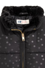 Padded gilet - Black/Spotted - Kids | H&M CN 3