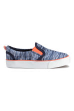 Slip-on trainers - Blue marl - Kids | H&M CN 2