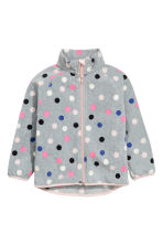 Fleece jacket - Grey/Spotted - Kids | H&M CN 2